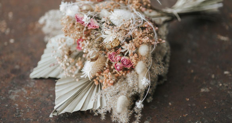 Fleurs séchée, bouquet de mariée, bouquet de fleur séchée, mariage civil, mariage, future mariée