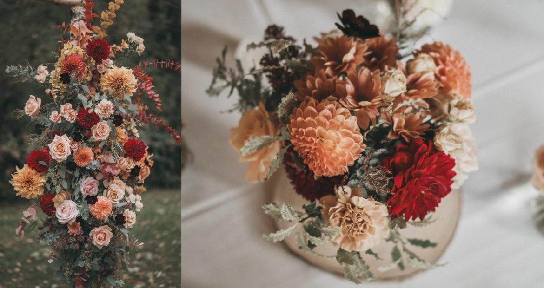 Cérémonie, mariage, centre de table, décor, décoratrice, fleuriste, ile de france, mariage en automne, mariage nature