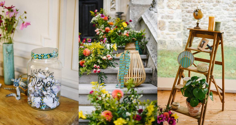Décoratrice, Ile de France, Décoration de mariage, mariage chic, mariage ethnique, scénographie, fleuriste mariage