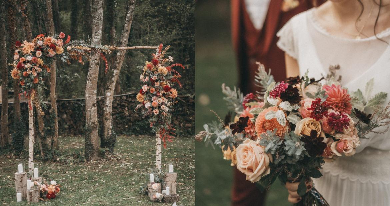 Cérémonie, mariage, décor, décoratrice, fleuriste, ile de france, mariage en automne, mariage naturel