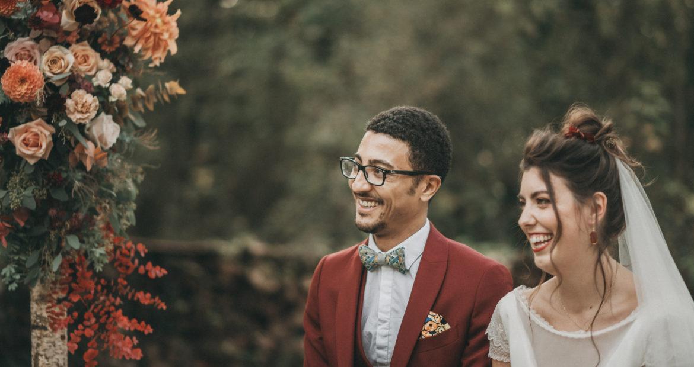 Cérémonie, mariage, décor, décoratrice, fleuriste, ile de france, mariage en automne, mariage nature, couple, mariés