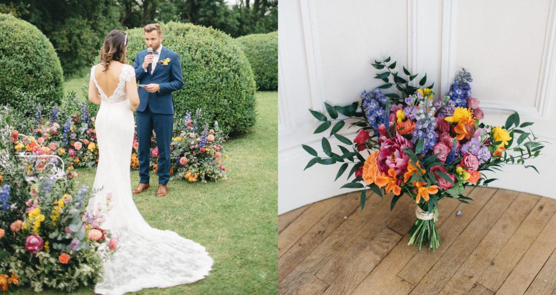 bouquet de mariée, fleuriste, mariage, bouquet coloré, design floral, floral designer