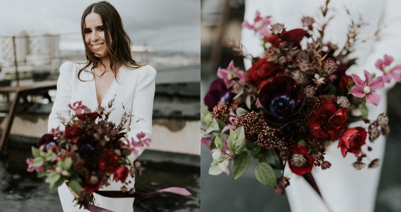 Fleuriste, Paris, mariage Parisien, mariage en hiver, bouquet différent, bouquet original