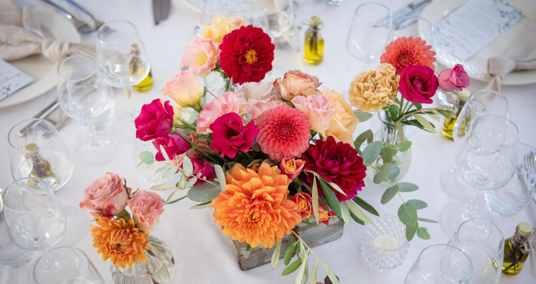 centre de table, mariage, table mariage, fleurs de mariage, décoration de mariage, fleuriste mariage