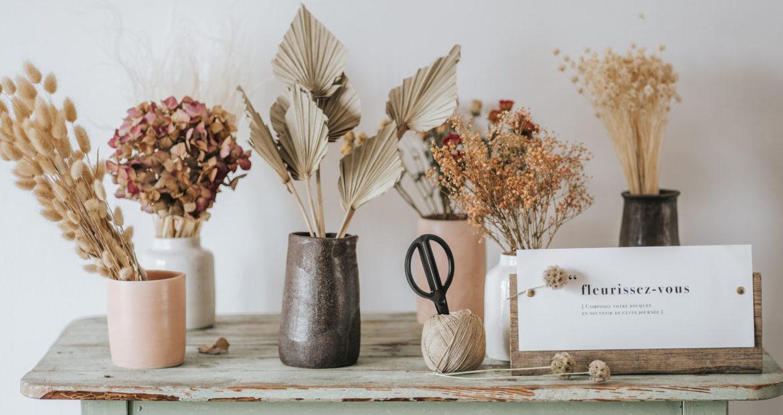 Bar à fleurs, fleurs séchées, mariage, animation, décoration mariage, fleuriste mariage, Ile de France, seine et marne, local, décor