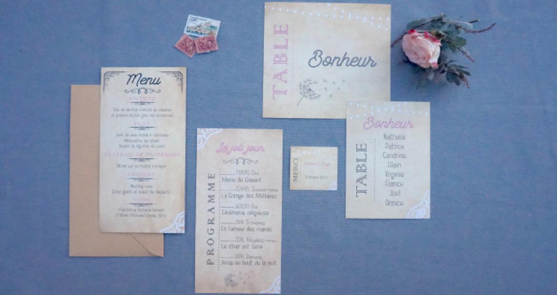 Papeterie, faire part, mariage, Ile de France