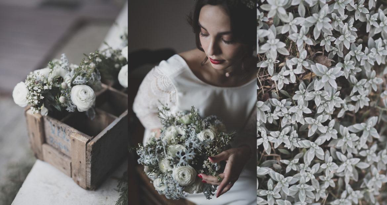 Fleuriste, mariage en hiver