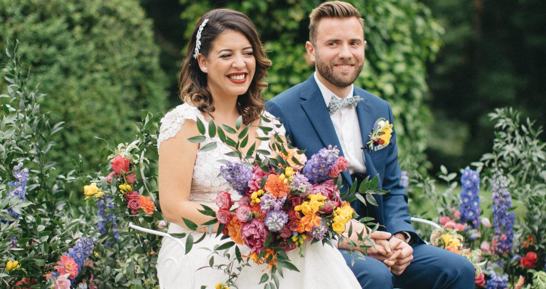 fleuriste, bouquet de mariée, fleuriste mariage, mariage coloré, cérémonie laïque,