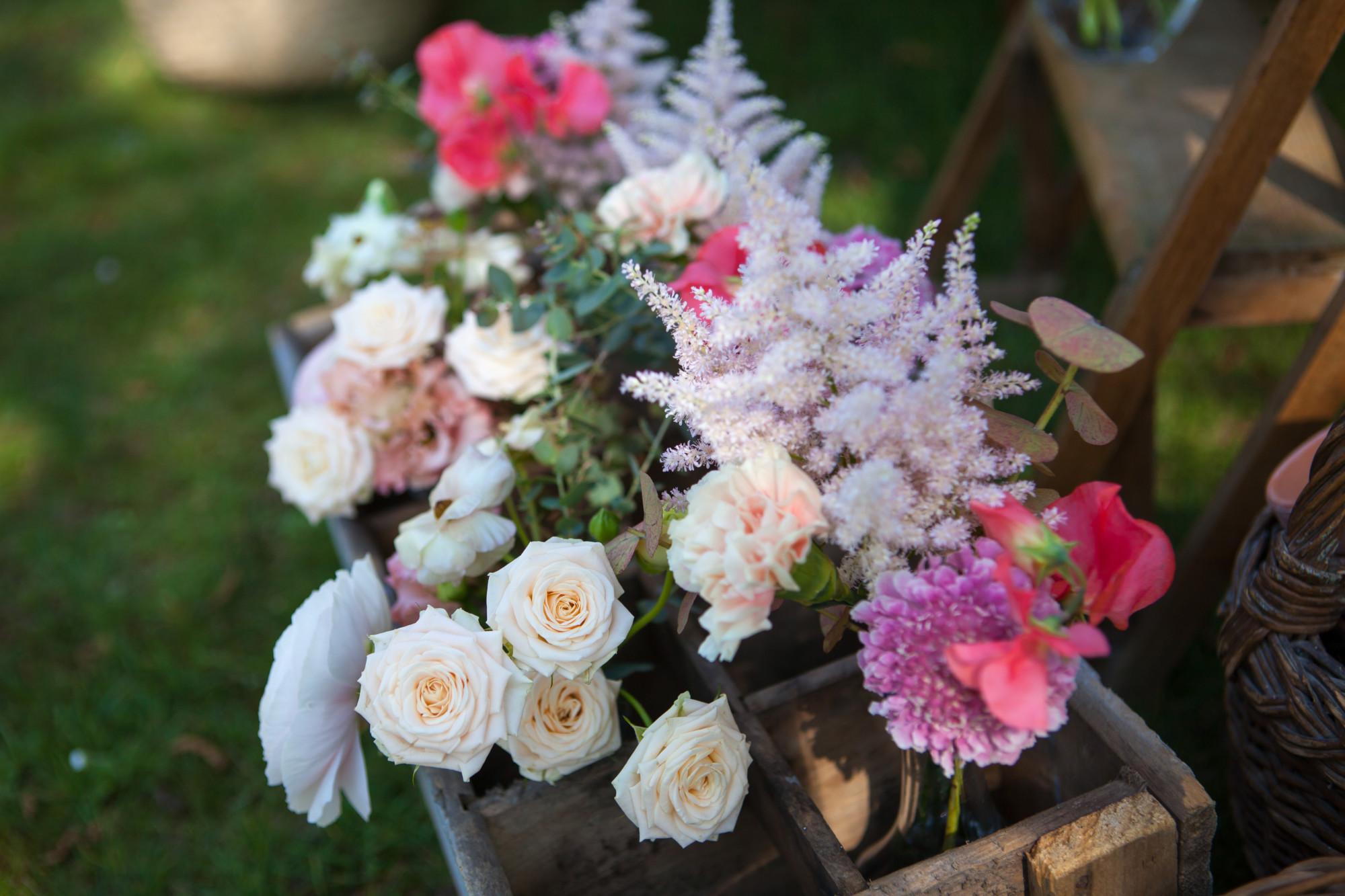 Caisse vintage, fleur