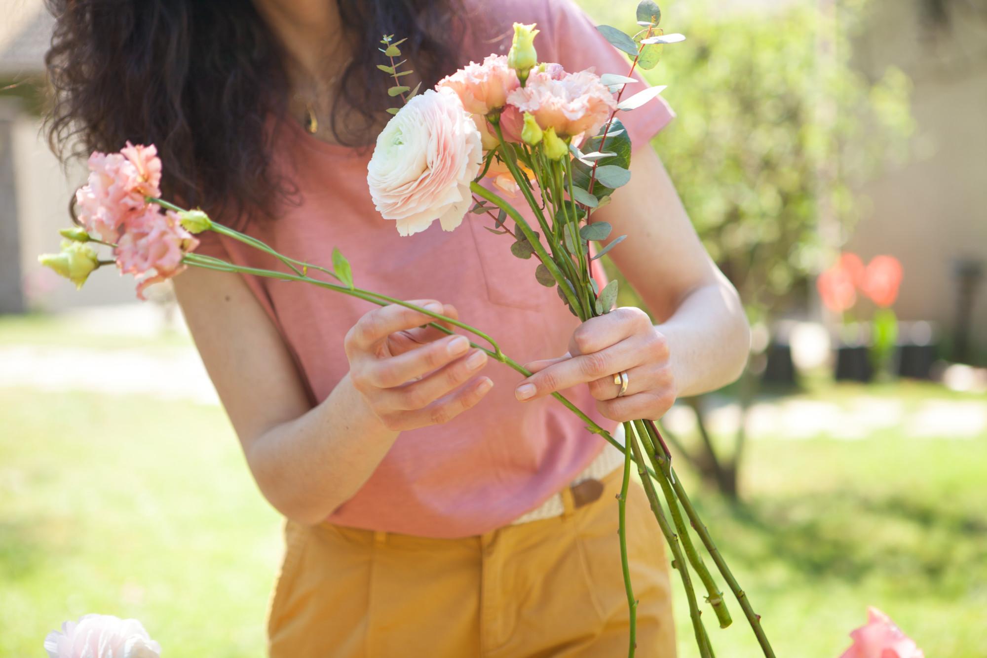 Fleuriste, mariage, atelier floral, décoratrice Ile de France, atelier, wedding designer