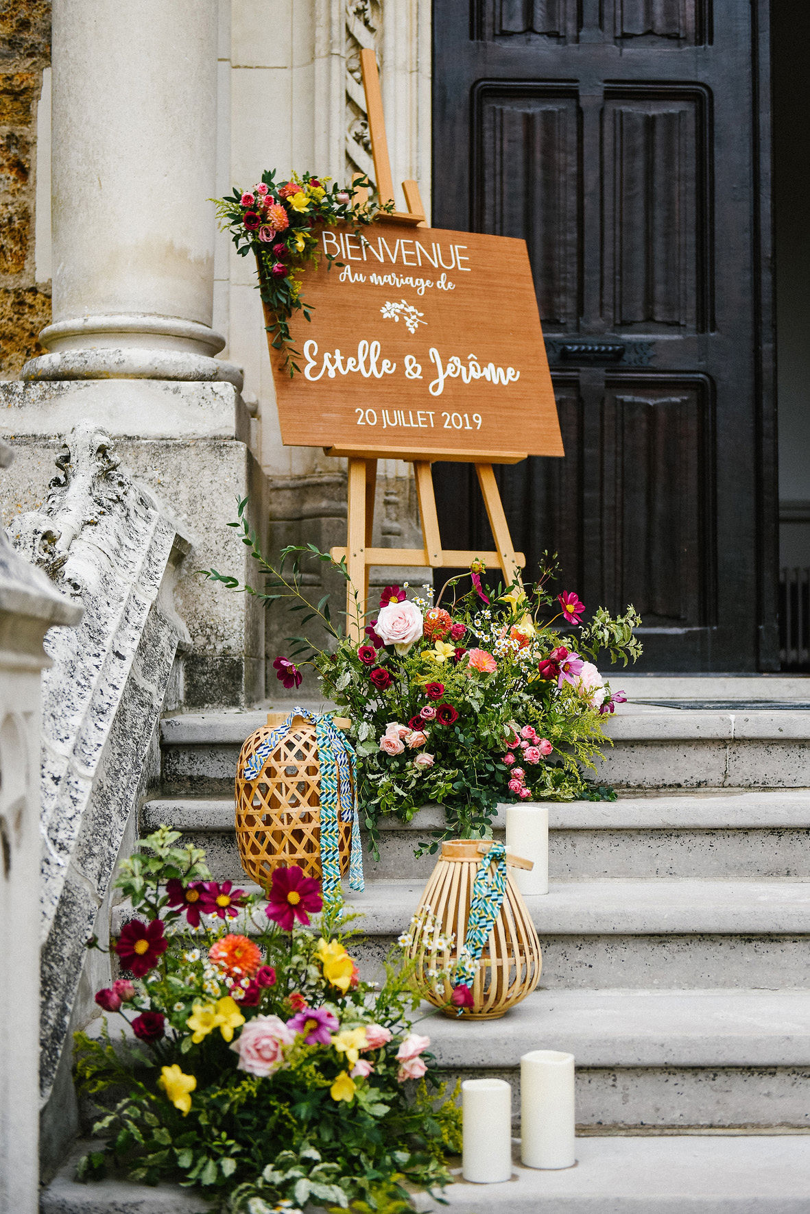 mariage ethnique, signalétique, mariage décoratrice, wedding designer, décoration, wedding, panneau de bienvenue, atelier floral, fleurs,