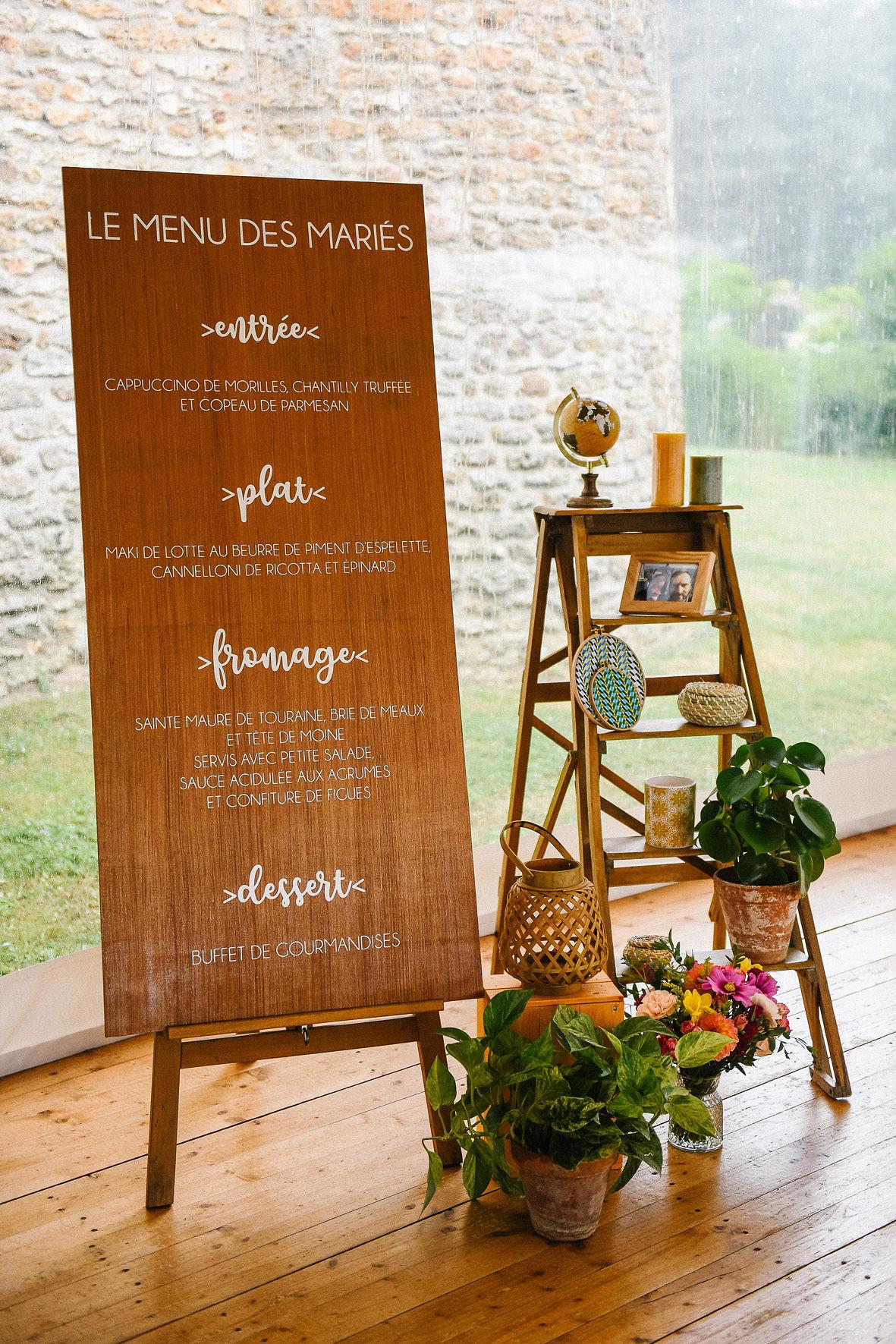 mariage, menu, signalétique, ethnique, décoratrice mariage, wedding designer, Paris