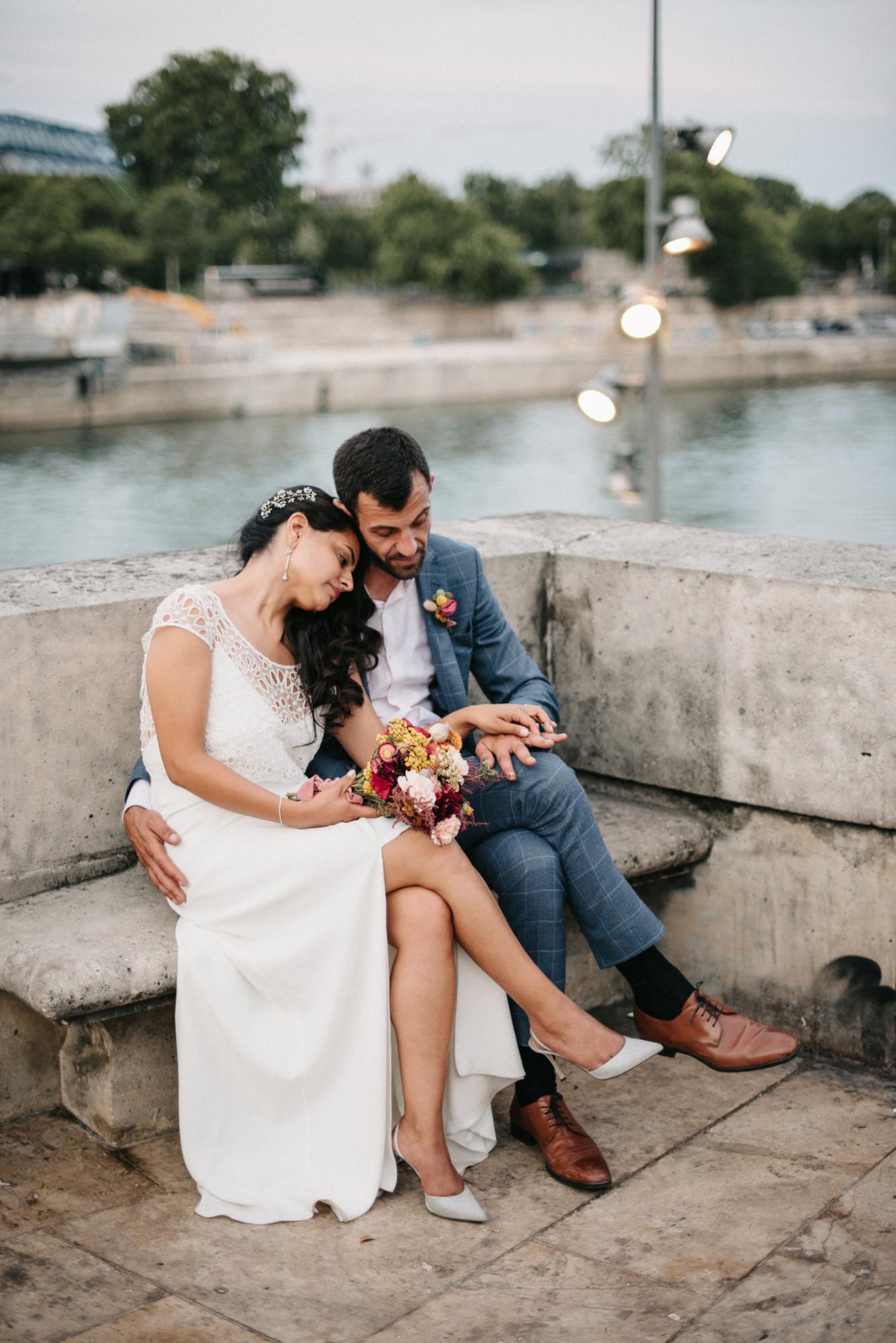 Paris, mariage bouquet de mariée