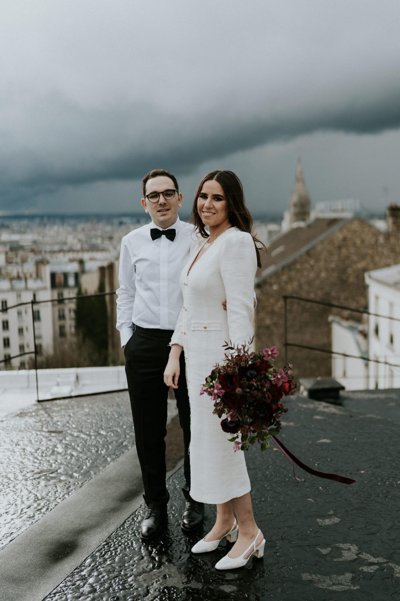 Mariage sur les toits de Paris