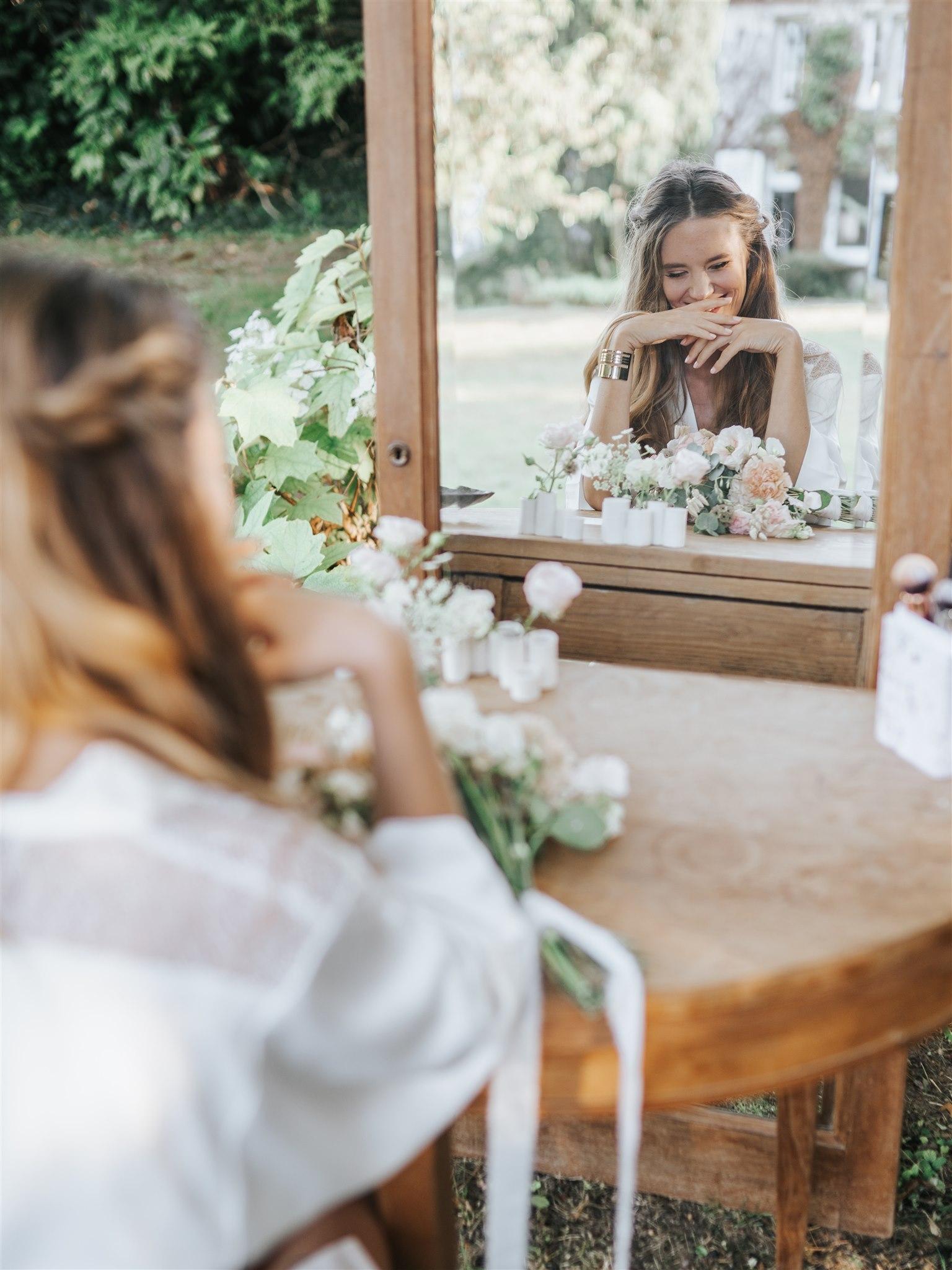fleuriste mariage, mariée moderne et romantique, future mariée, décoratrice mariage