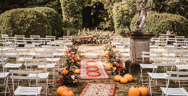 Un mariage en automne au château de Méridon, dans le Yvelines