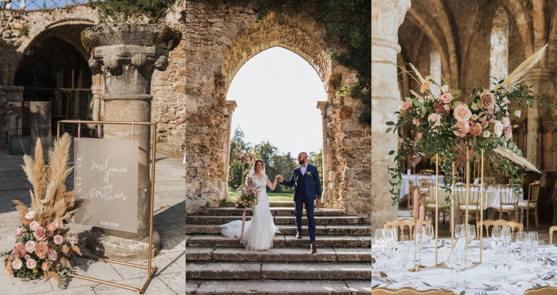 signalétique, wedding designer, flora designer, décoratrice mariage, décor de mariage, panneau de bienvenue, pampa, fleurs séchées, mariage en été,