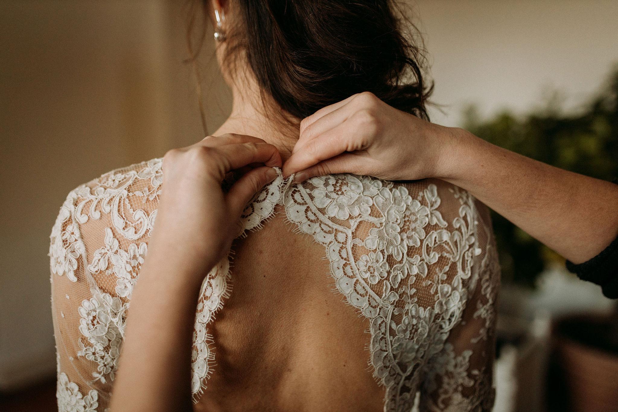 Domaine verderonne mariage dentelle robe