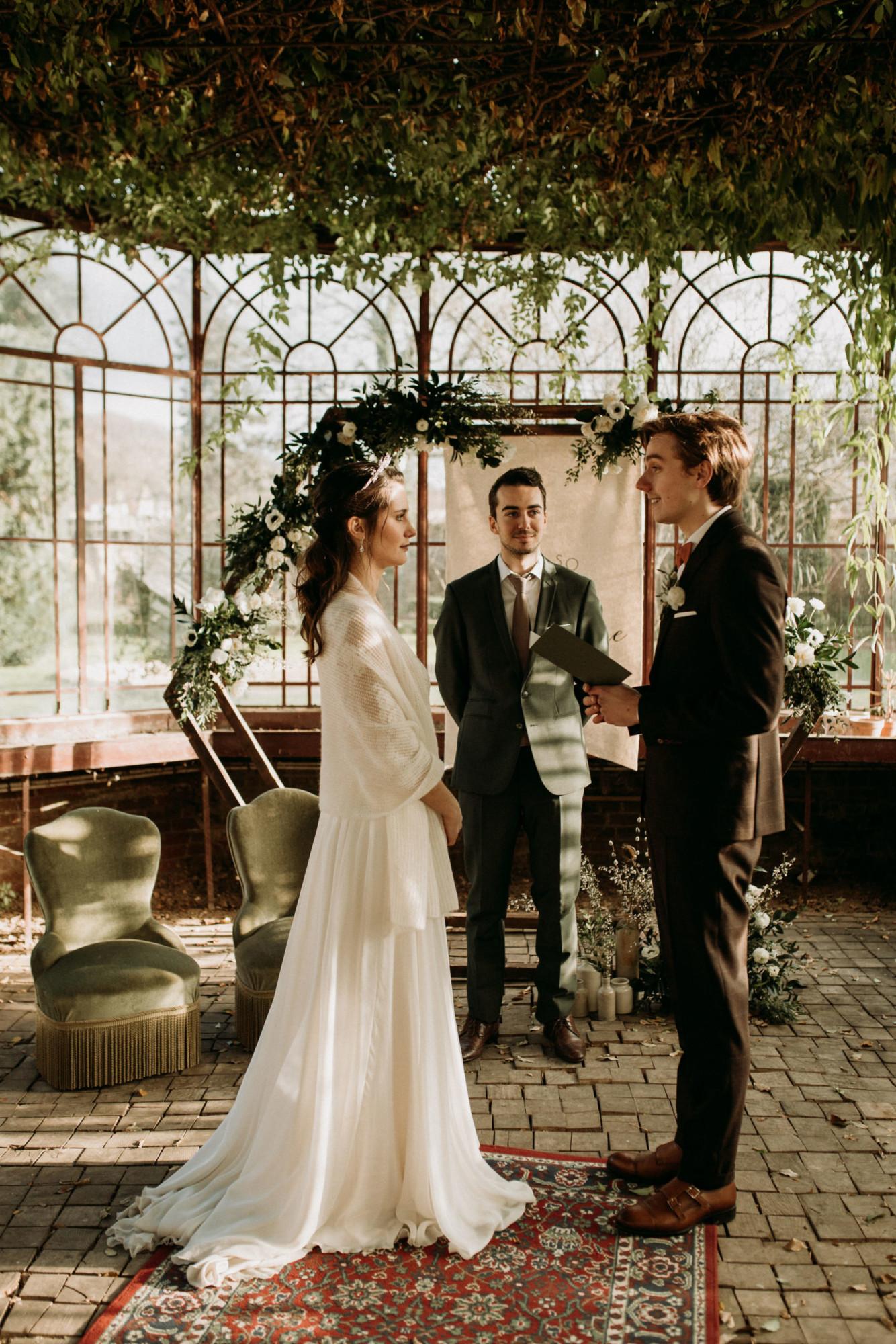 Domaine verderonne mariage couple cérémonie