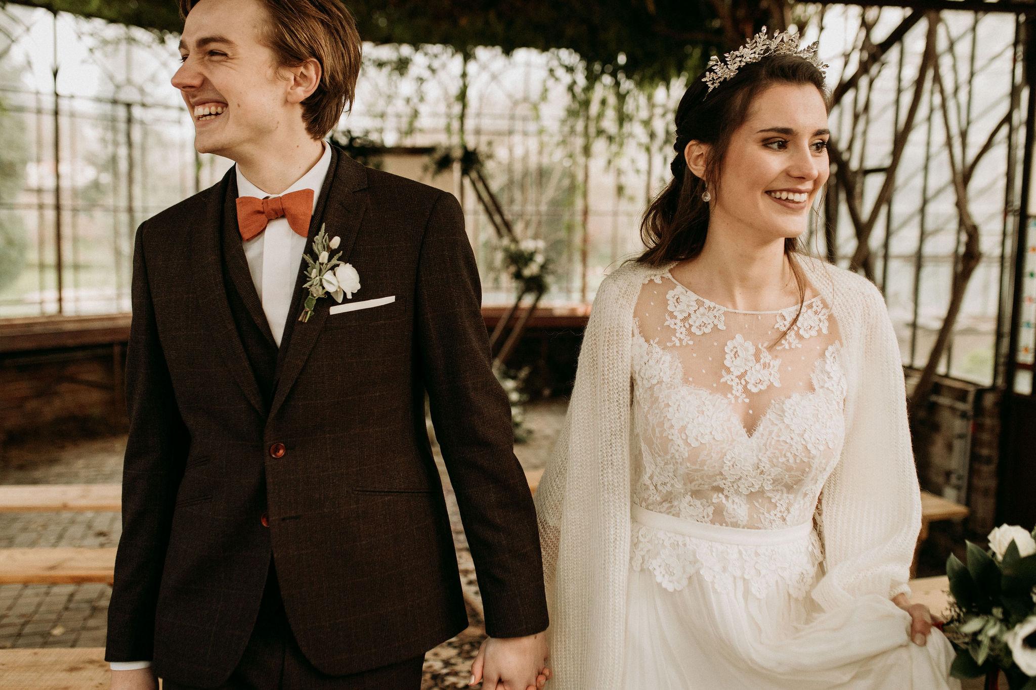 Domaine verderonne mariage heureux en hiver