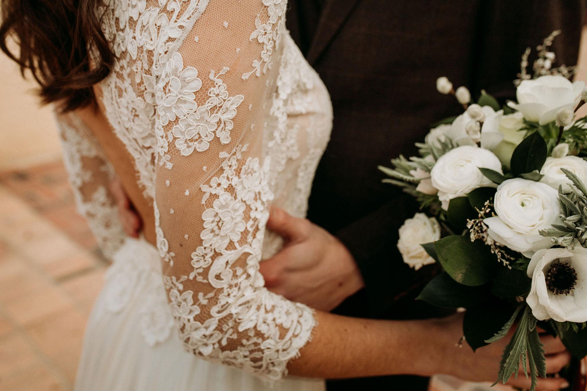 Domaine verderonne mariage fleur et dentelle