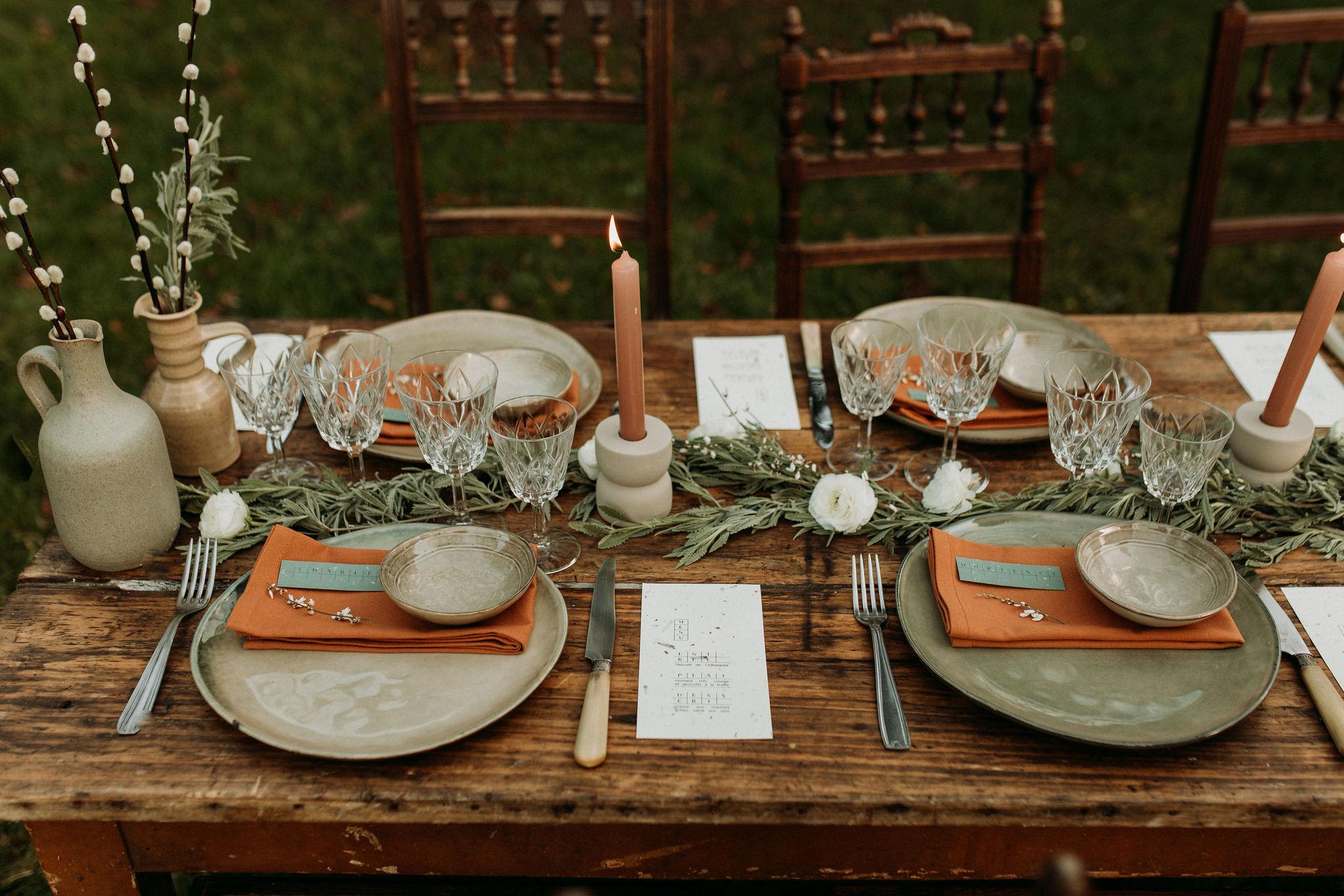 Domaine verderonne table des mariée