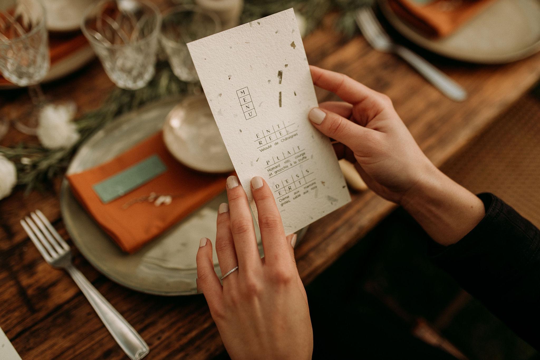 Domaine verderonne mariage menu