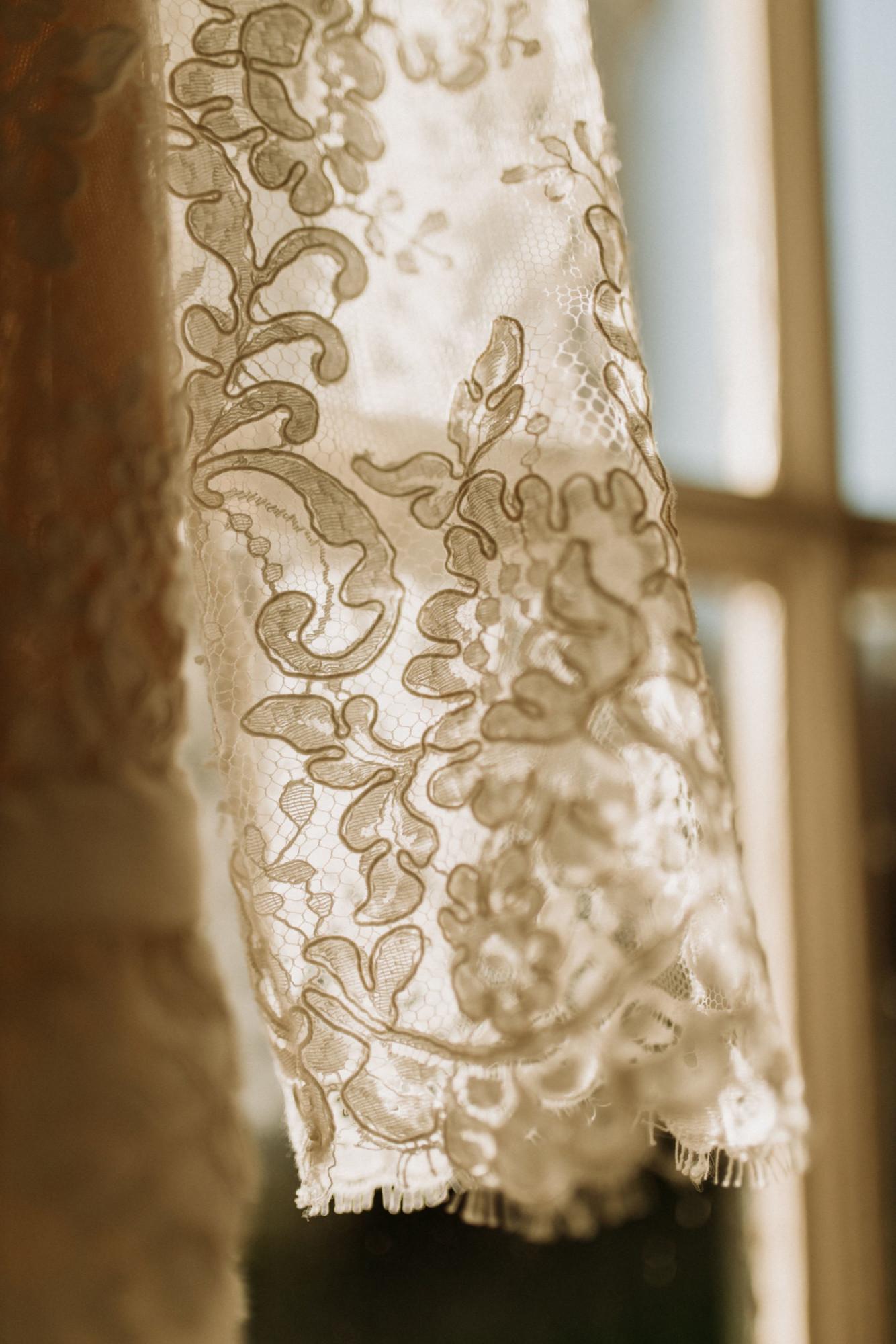 Domaine verderonne mariage dentelle détail