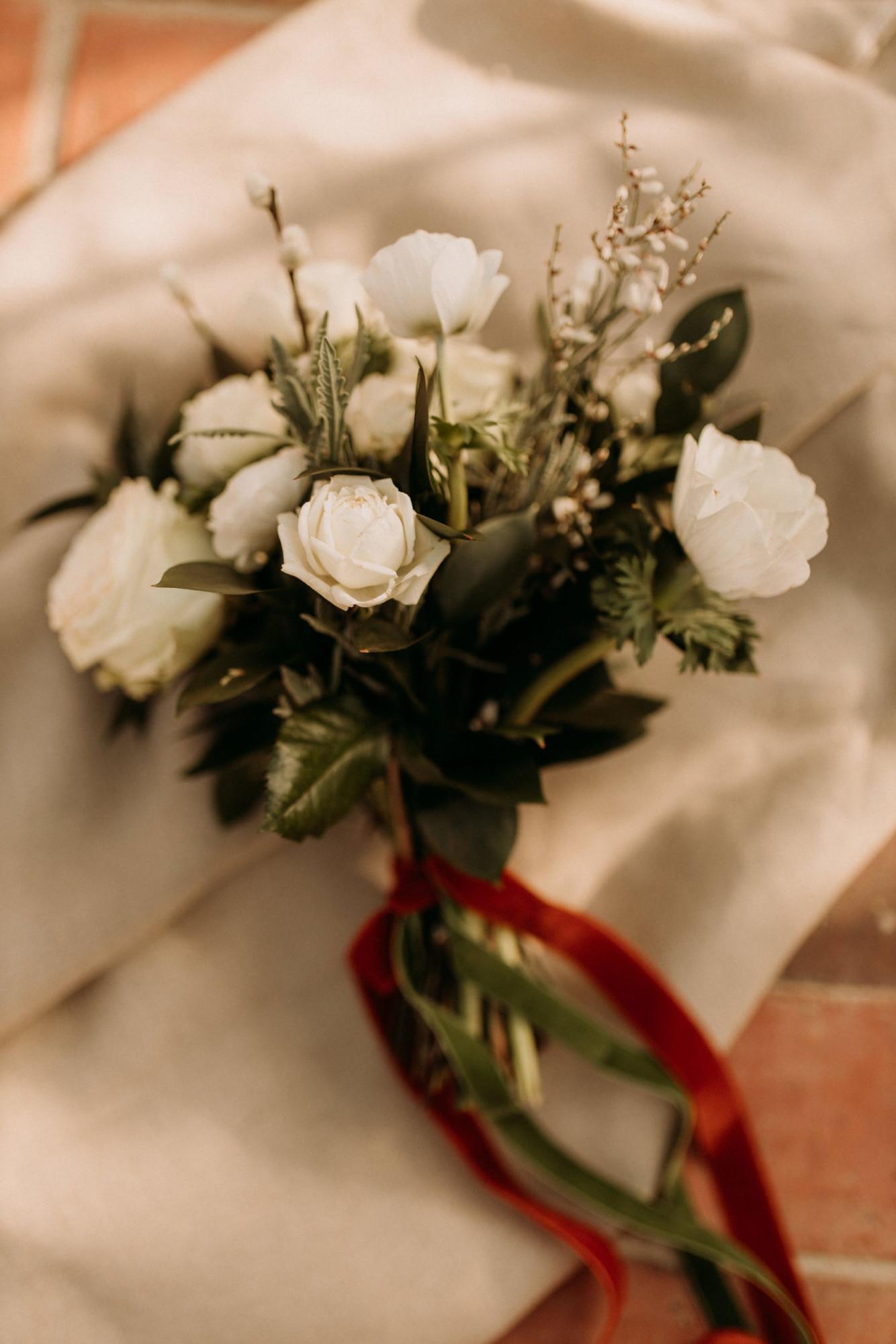 Domaine verderonne mariage bouquet de mariée