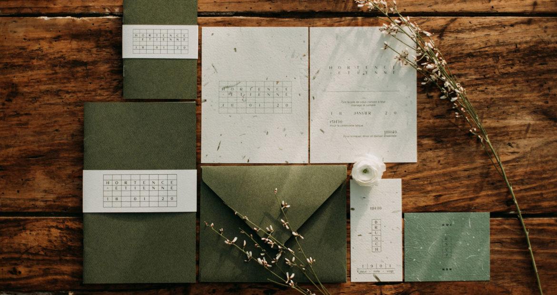 papeterie, set papeterie, faire part mariage, design graphique