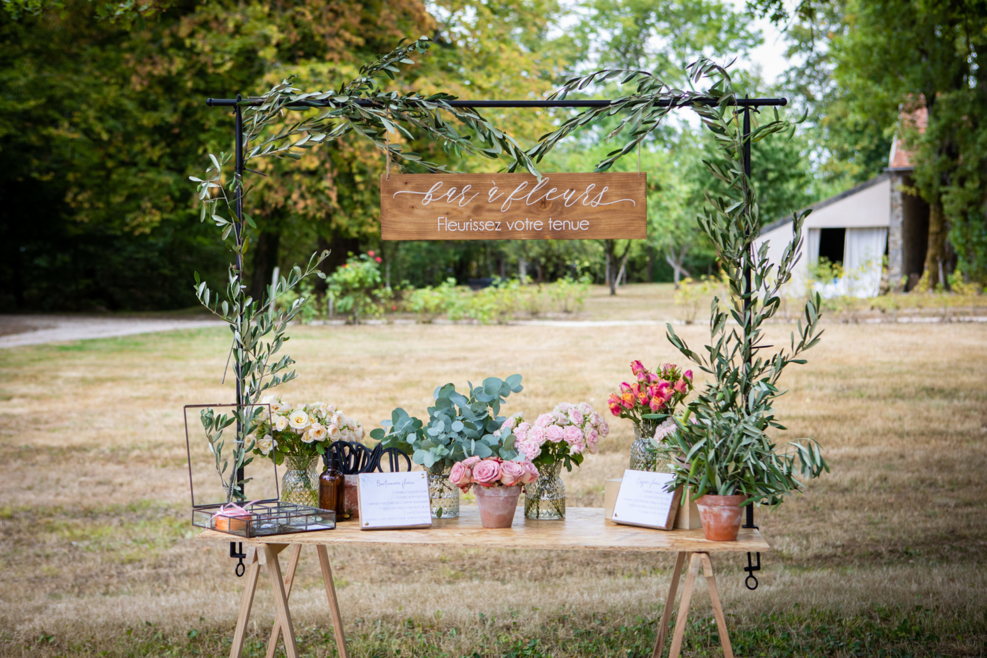 bar à fleurs, fleuriste mariage, décoration mariage, animation mariage,mariage ile de france, mariage seine et marne, mariage Paris,