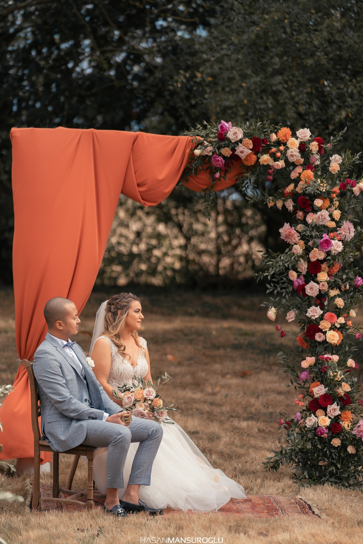 Cérémonie de mariage chateau de bourguignon