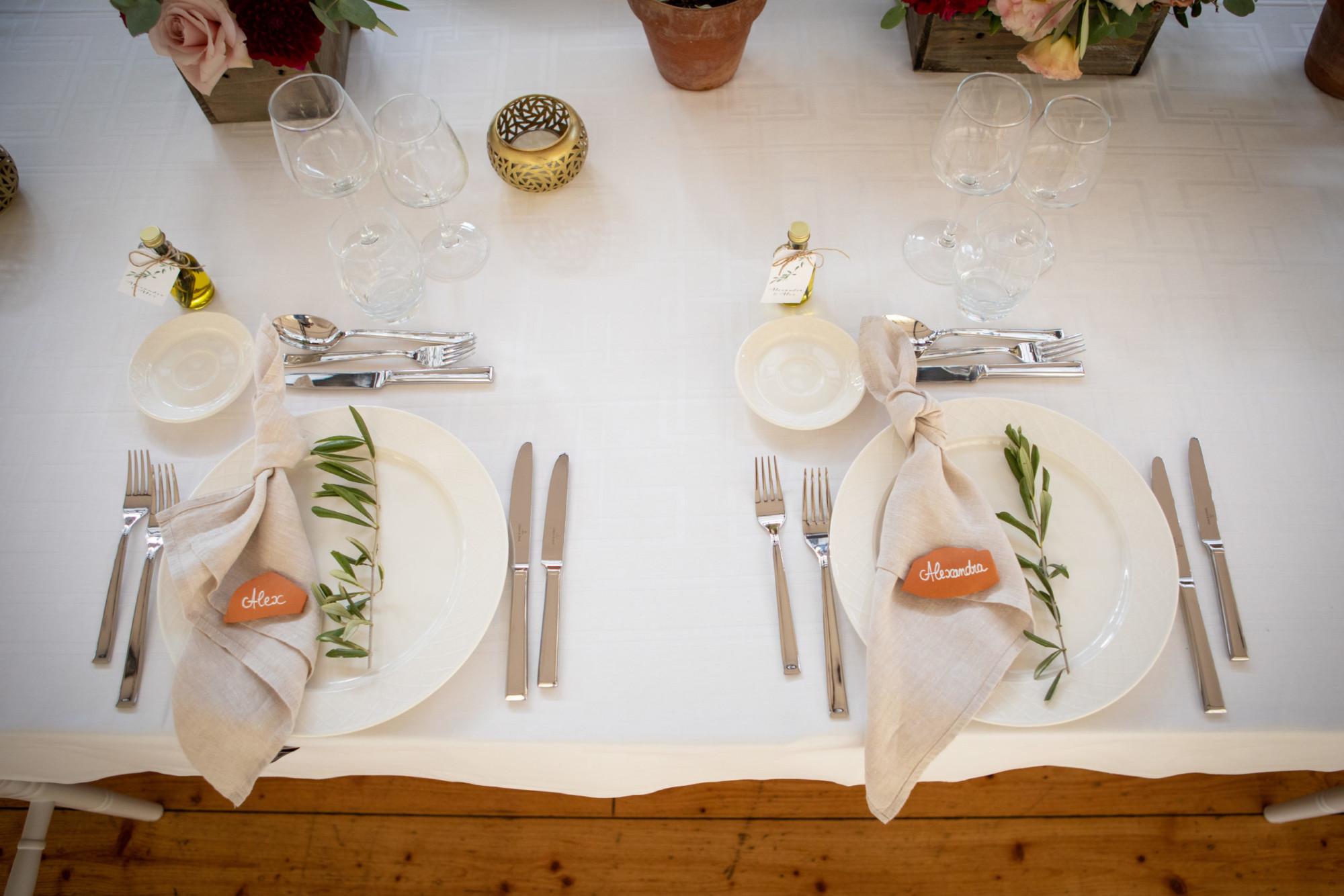 Table d\'honneur - marque place