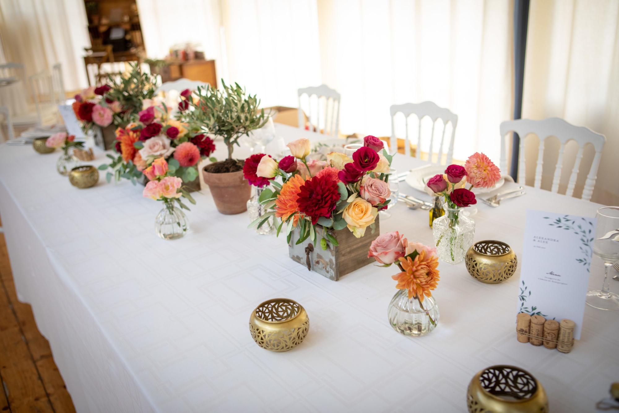 Table d\'honneur esprit jardin