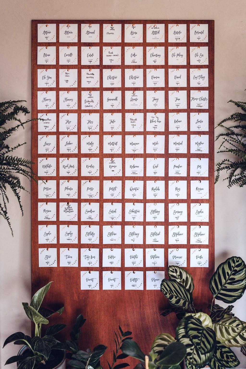 plan de table, scénographie, décor mariage, plante, décoration mariage