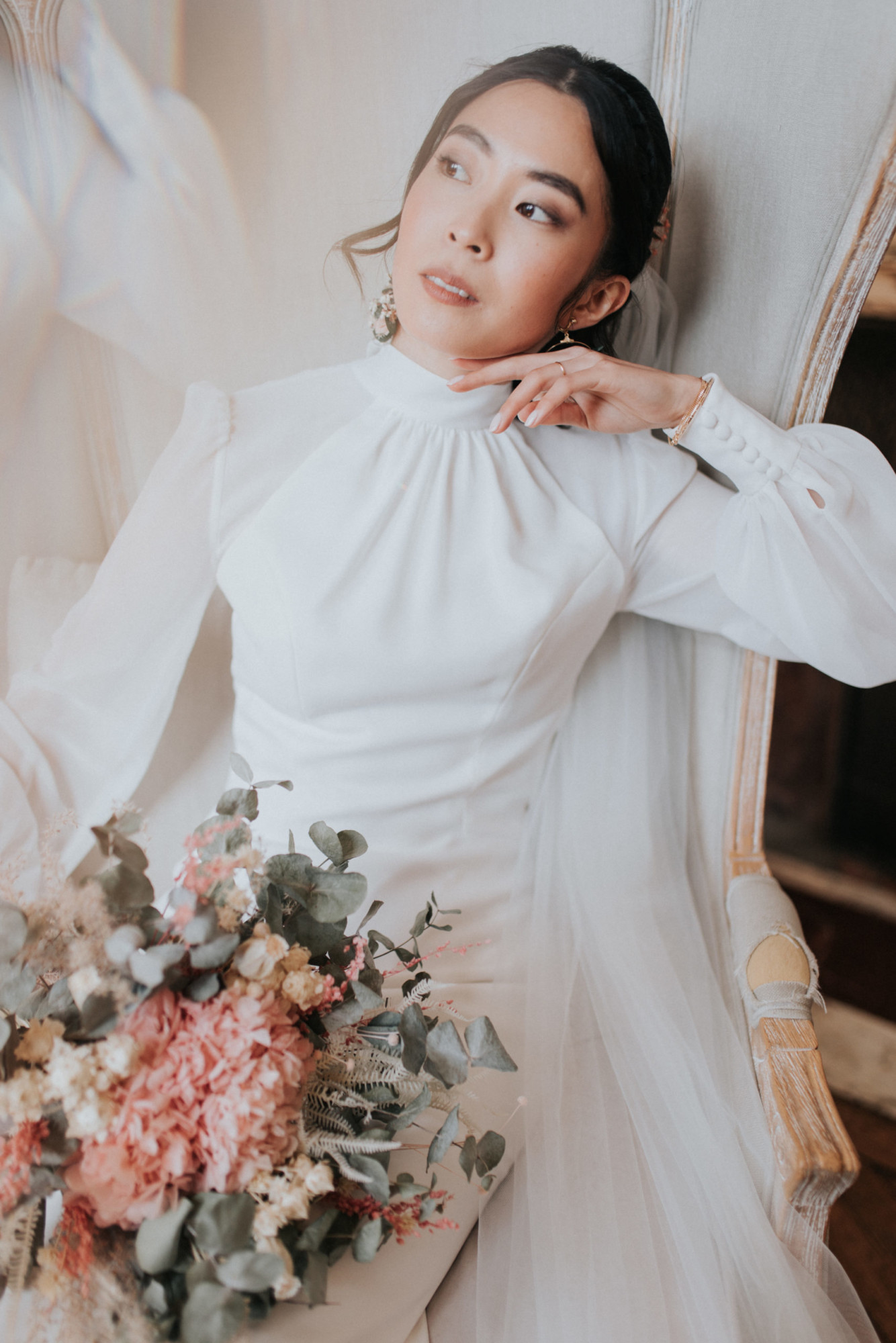 mariée, mariage chic, mariage luxe, mariage paris, chateau de méridon