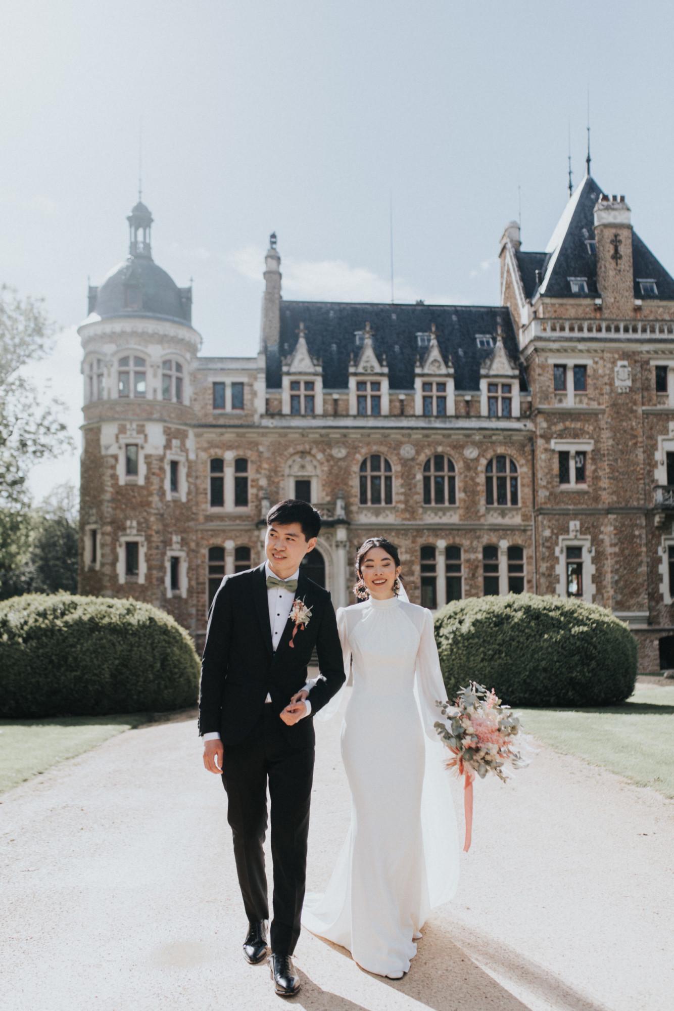 couple, mariage paris, château, fleuriste, floral designer