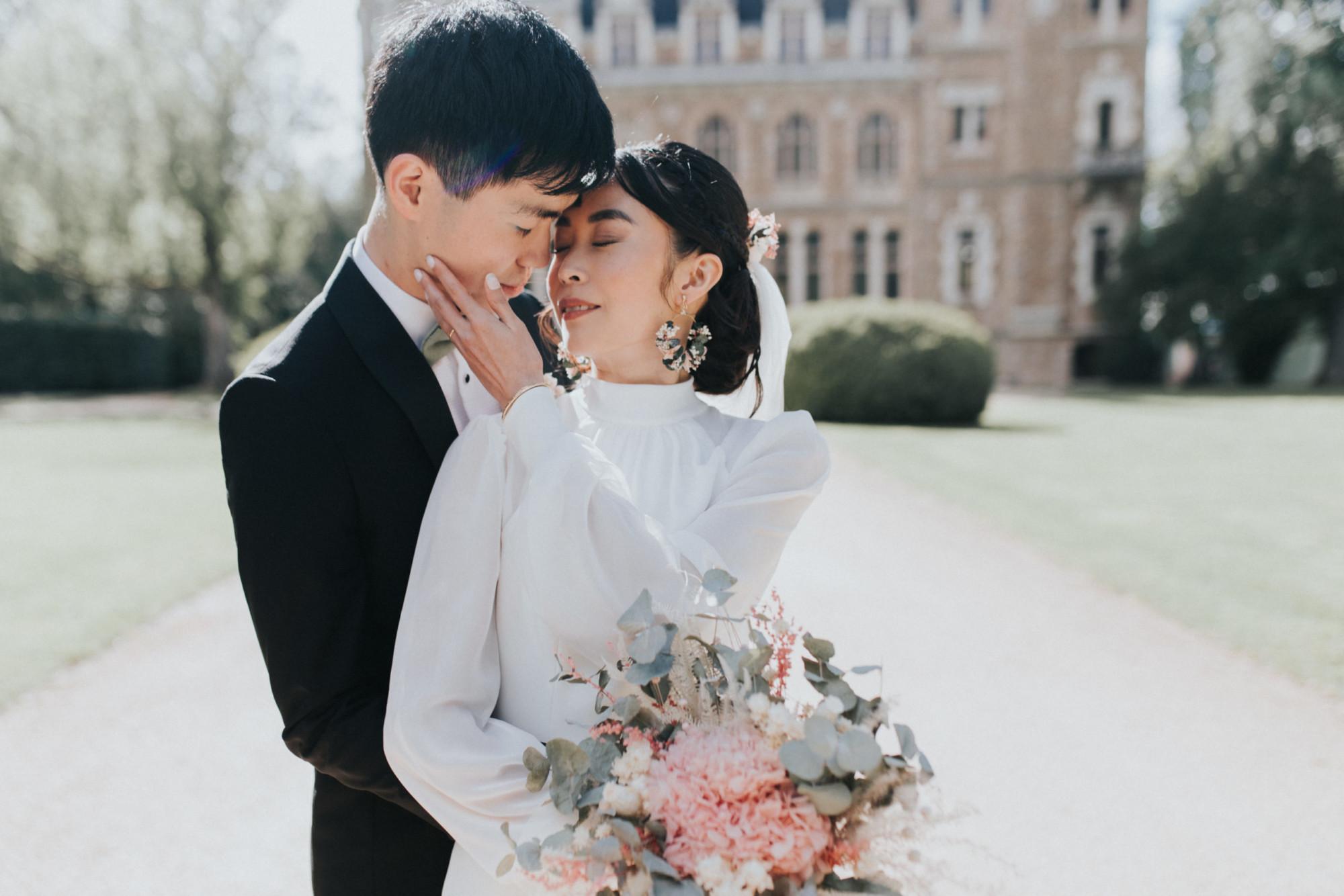 mariage raffiné, château, décoratrice mariage, fleuriste, mariage élégant