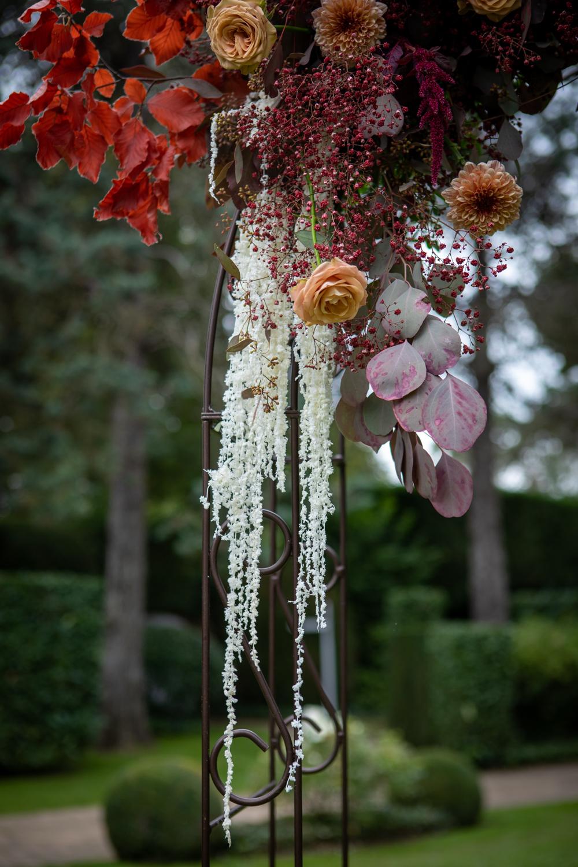 mariage bohème, design floral, wedding design, fleuriste paris, fleuriste mariage, palm, fleurs séchées, mariage en automne, la catrache, décoration de mariage Paris, arche, photobooth